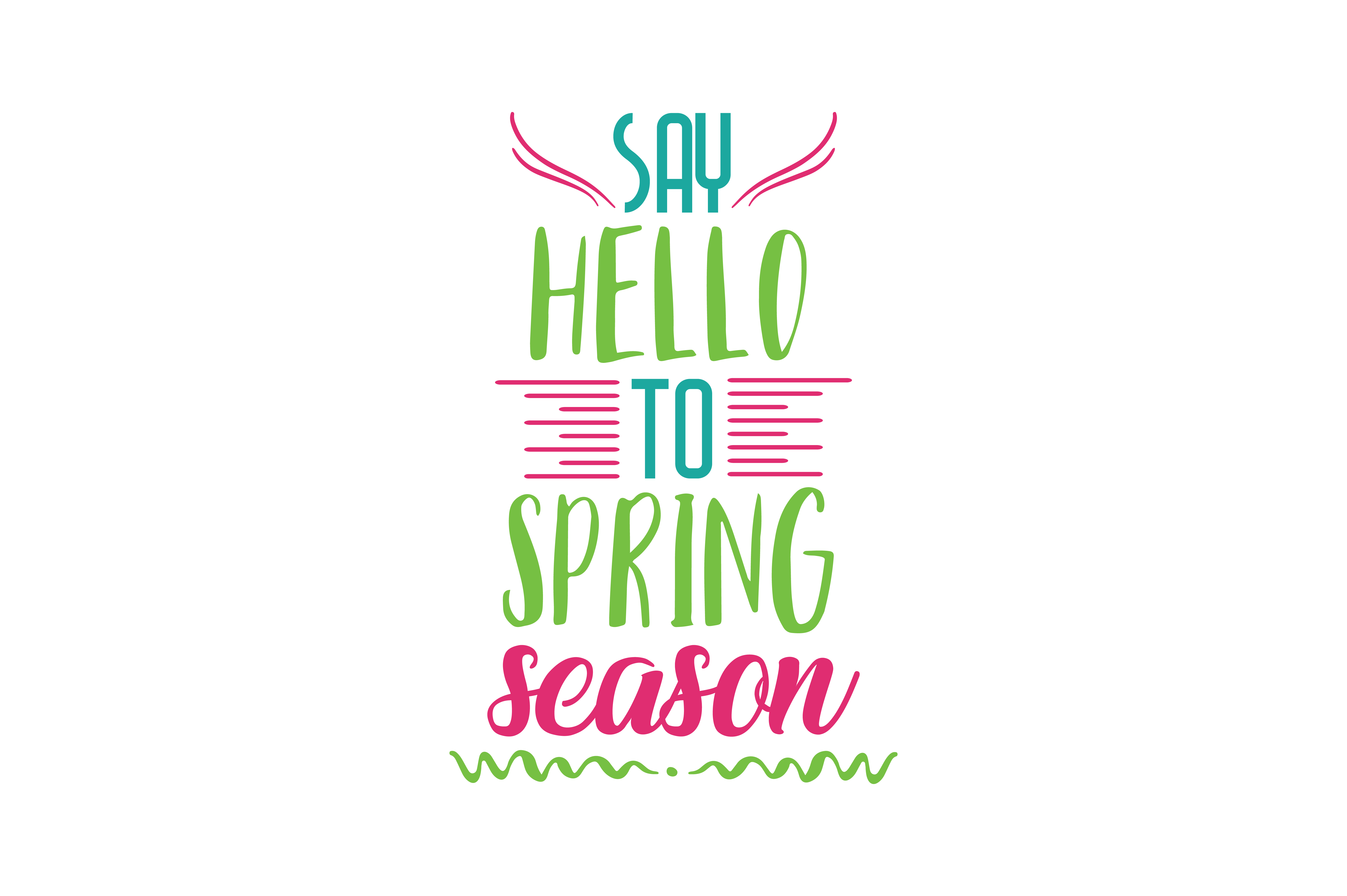 Download Free Say Hello To Spring Season Quote Svg Cut Graphic By Thelucky SVG Cut Files