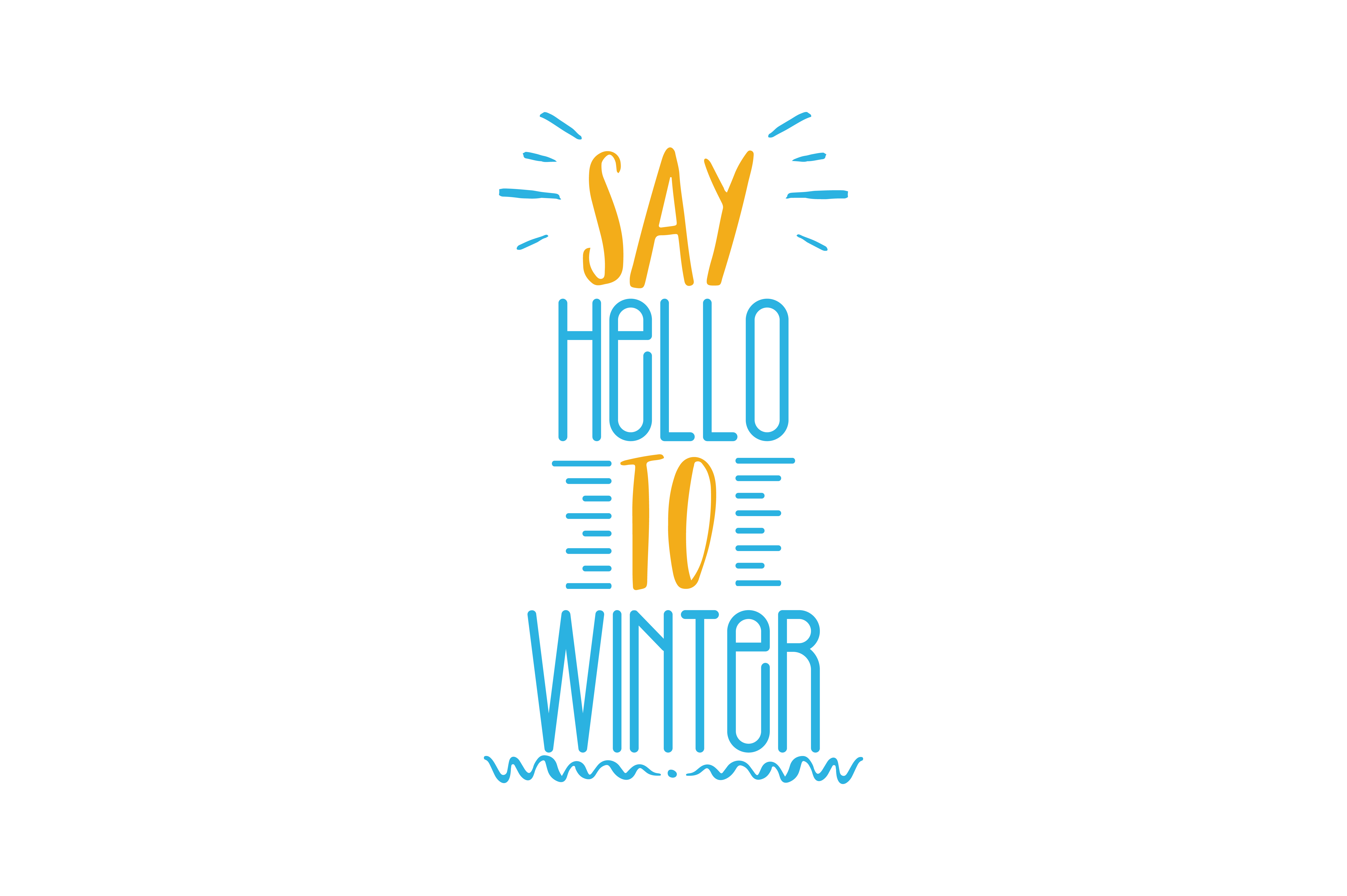 Download Free Say Hello To Winter Quote Svg Cut Graphic By Thelucky Creative for Cricut Explore, Silhouette and other cutting machines.