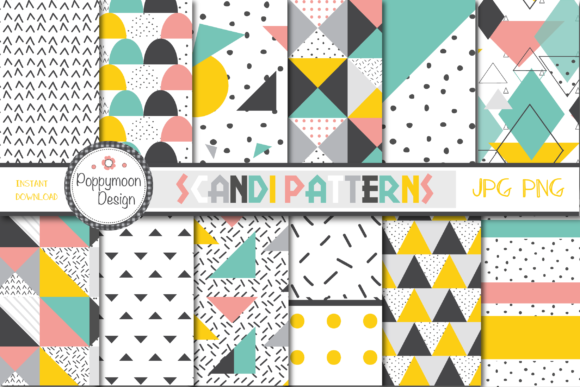 Download Free Scandi Patterns Graphic By Poppymoondesign Creative Fabrica SVG Cut Files