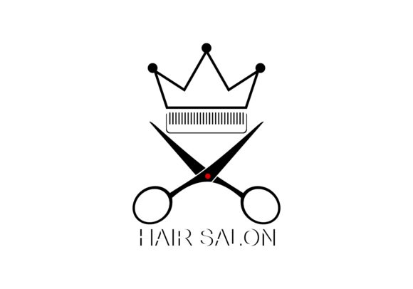 Download Free Scissor Hair Salon Logo Vector Graphic By Deemka Studio for Cricut Explore, Silhouette and other cutting machines.