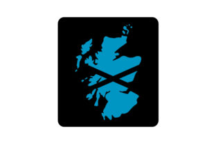 Scotland Country Outline with Flag Fill Craft Design By Creative Fabrica Crafts