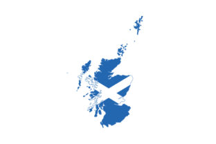 Scotland Country Outline with Flag Fill Scotland Craft Cut File By Creative Fabrica Crafts