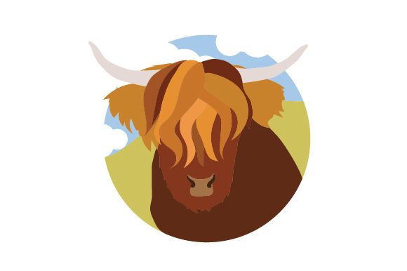 Download Free Scottish Highland Cow Cartoon Svg Cut File By Creative Fabrica for Cricut Explore, Silhouette and other cutting machines.