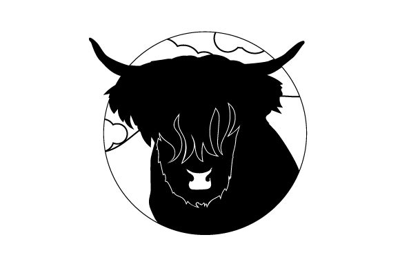 Scottish Highland Cow Cartoon Svg Cut File By Creative