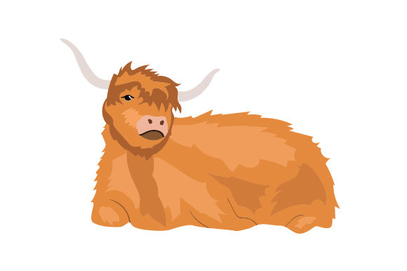 Download Free Scottish Highland Cow Realistic Svg Cut File By Creative Fabrica for Cricut Explore, Silhouette and other cutting machines.