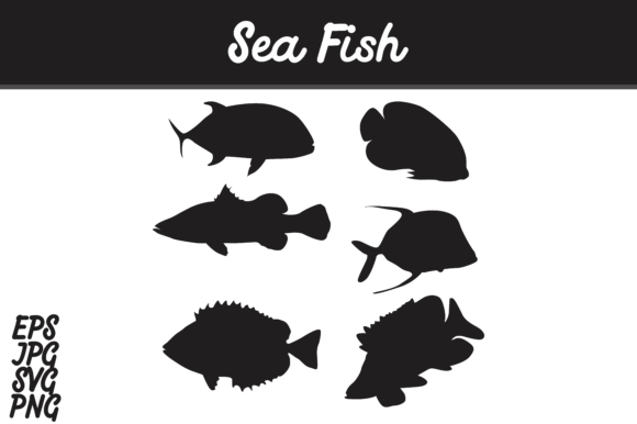 Sea Fish Silhouette Svg Vector Image Graphic By Arief Sapta Adjie