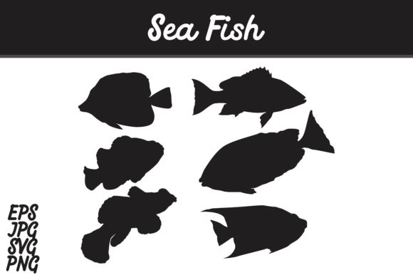 Download Free Sea Fish Silhouette Set Svg Vector Image Bundle Graphic By Arief for Cricut Explore, Silhouette and other cutting machines.