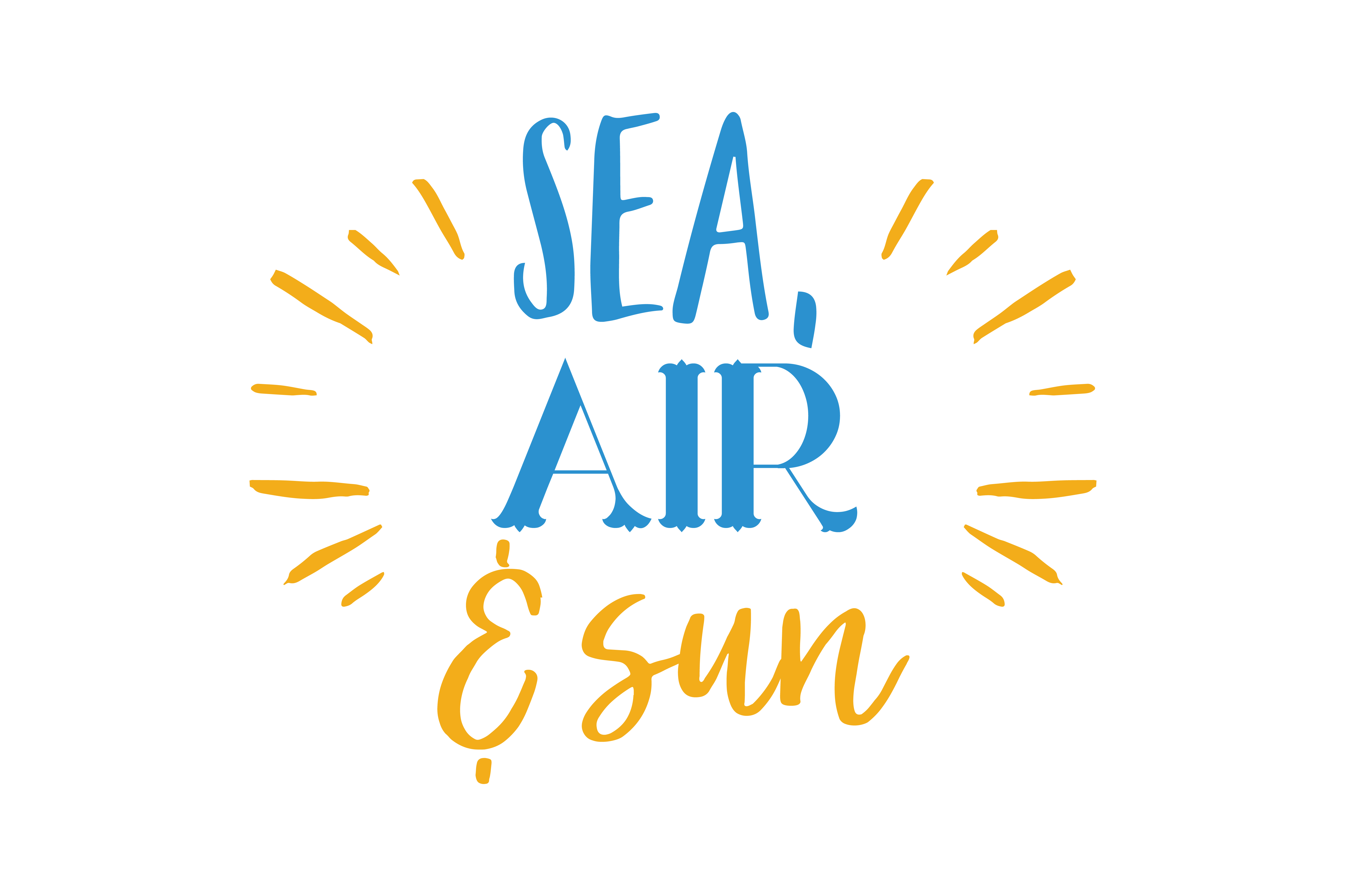 Download Free Sea Air Sun Quote Svg Cut Graphic By Thelucky Creative Fabrica for Cricut Explore, Silhouette and other cutting machines.