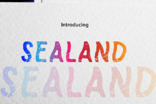 Print on Demand: Sealand Color Fonts Font By da_only_aan