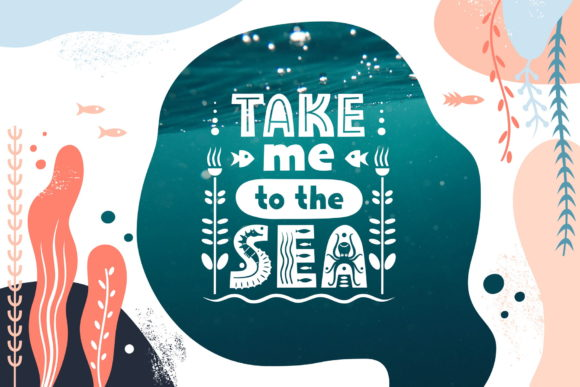 Print on Demand: Sealife Family Display Font By struvictory - Image 2