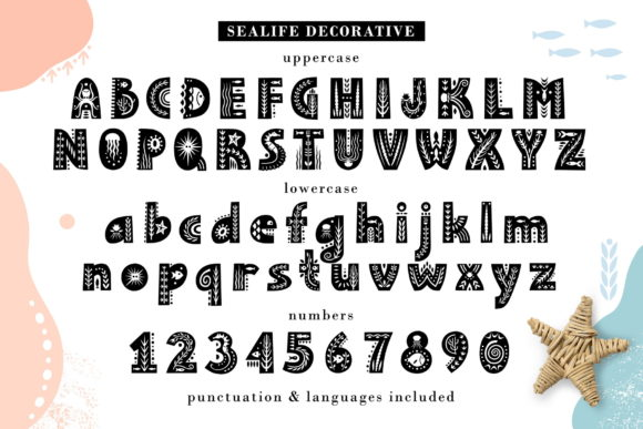 Print on Demand: Sealife Family Display Font By struvictory - Image 3