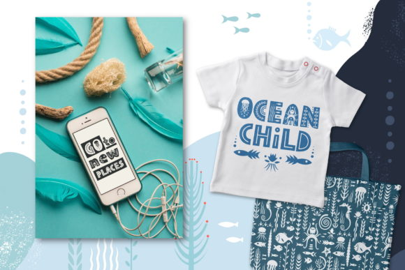 Print on Demand: Sealife Family Display Font By struvictory - Image 4