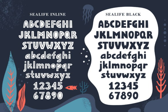Print on Demand: Sealife Family Display Font By struvictory - Image 5