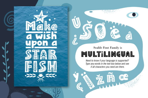 Print on Demand: Sealife Family Display Font By struvictory - Image 6