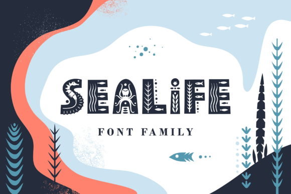 Print on Demand: Sealife Family Display Font By struvictory
