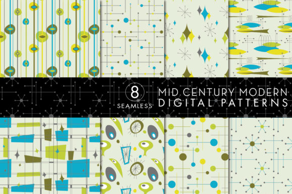 Print on Demand: Seamless Mid Century Patterns Graphic Patterns By Eyestigmatic Design