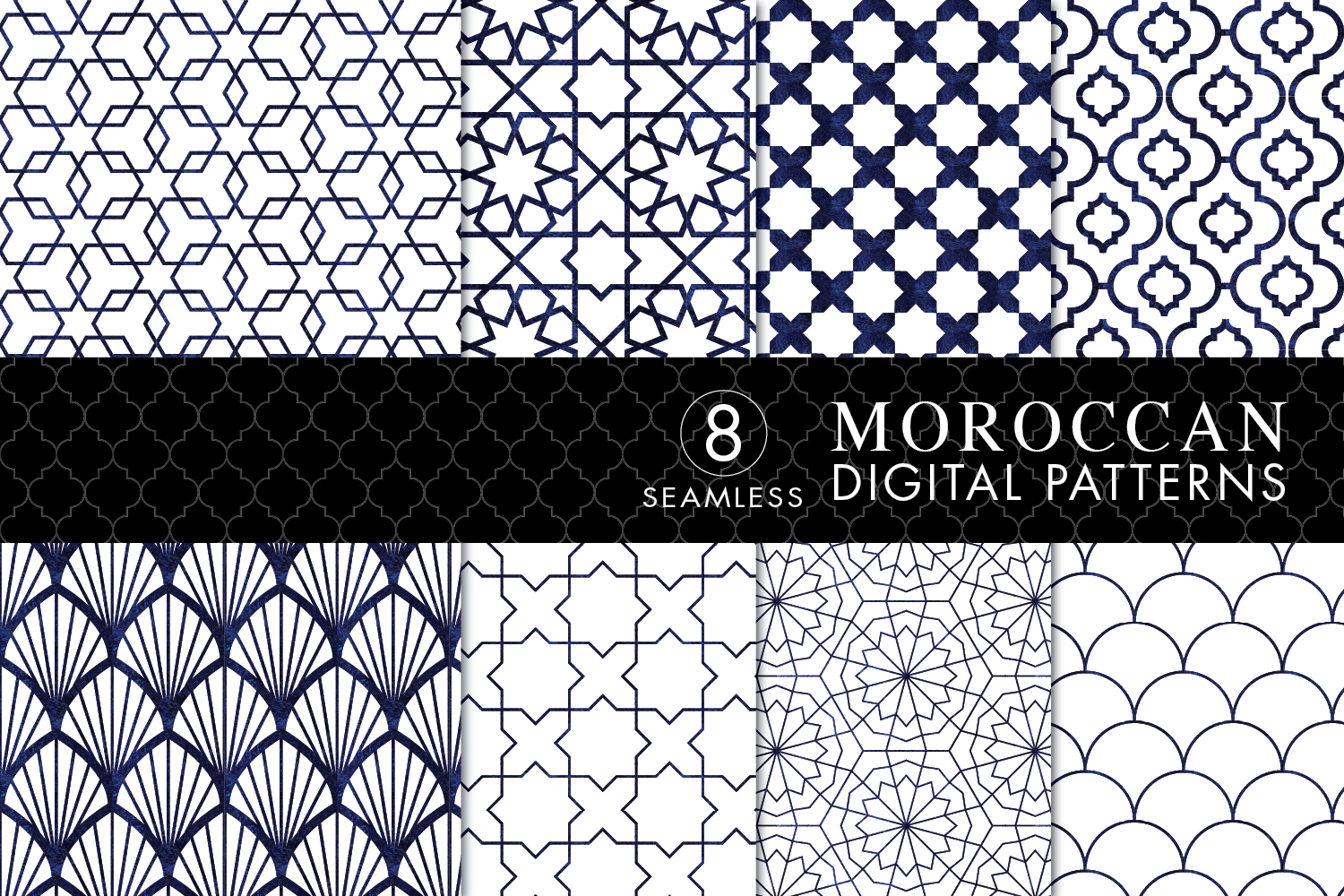 Download Free Seamless Moroccan Patterns Grafik Von Eyestigmatic Design for Cricut Explore, Silhouette and other cutting machines.