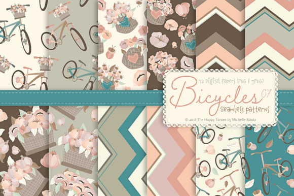 Print on Demand: Seamless Patterns & Digital Papers Graphic Patterns By Michelle Alzola