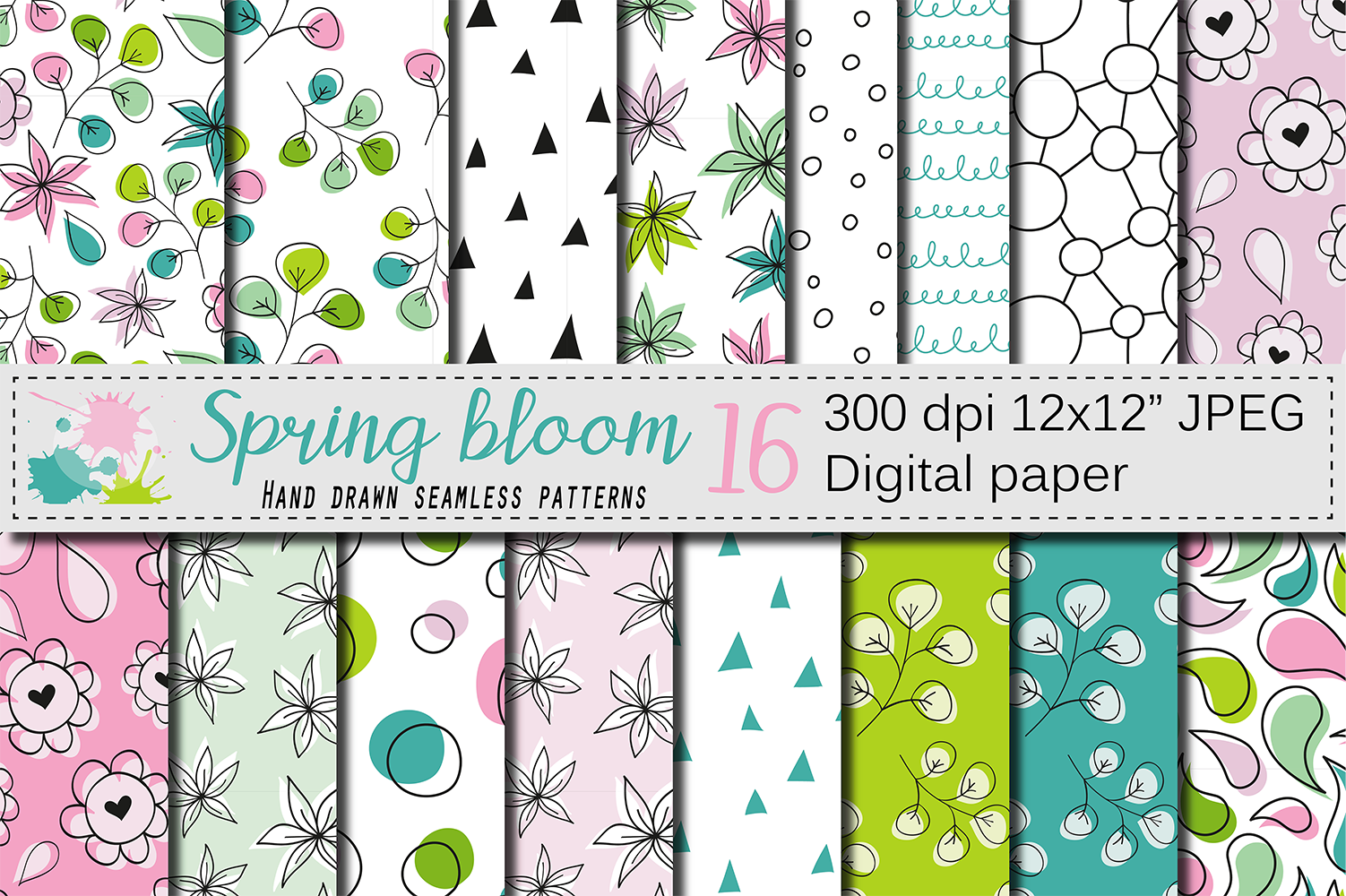 Download Free Seamless Digital Paper Patterns Graphic By Vr Digital Design for Cricut Explore, Silhouette and other cutting machines.