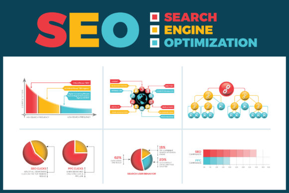 Print on Demand: Search Engine Optimization (SEO) Infographic Graphic Infographics By ContestDesign