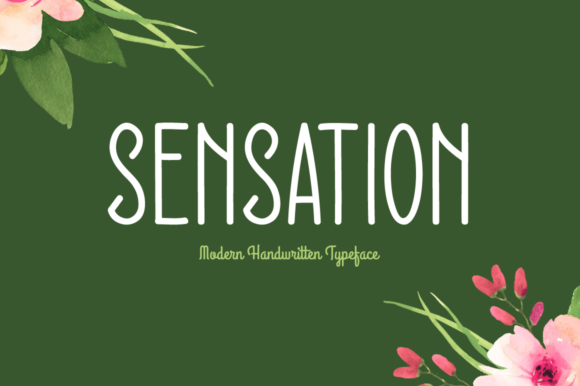 Print on Demand: Sensation Script & Handwritten Font By Shattered Notion