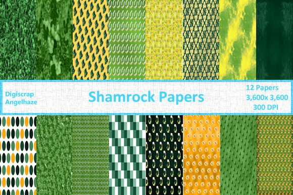 Print on Demand: Shamrock Papers Graphic Patterns By Digiscrap Angelhaze - Image 1