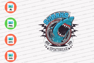 Shark Angry Graphic Illustrations By Monkey Art Work