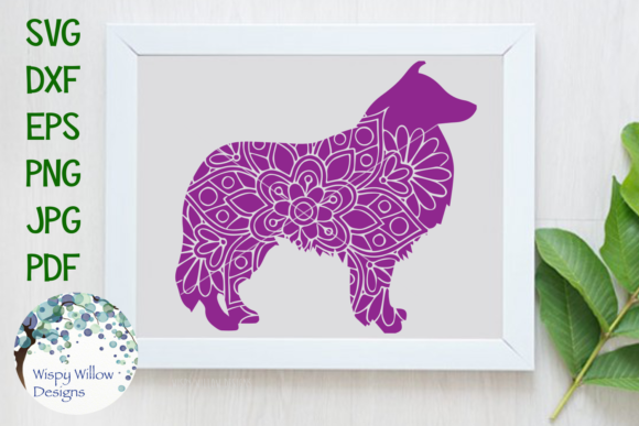 Download Free Sheltie Mandala Zentangle Svg Graphic By Wispywillowdesigns for Cricut Explore, Silhouette and other cutting machines.