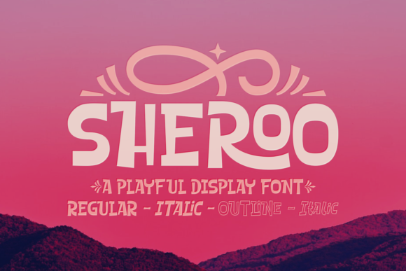 Print on Demand: Sheroo Display Font By Situjuh - Image 1