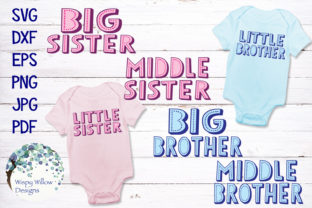 Sibling Bundle Graphic By WispyWillowDesigns