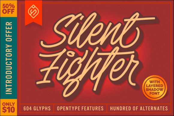 Print on Demand: Silent Fighter Script & Handwritten Font By Mikrojihad Typefounder