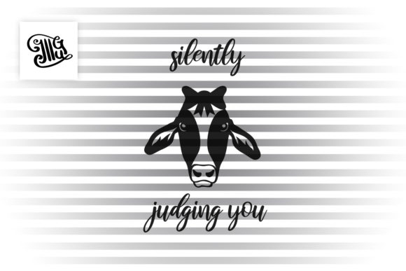 Silently Judging You Graphic Crafts By Illustrator Guru - Image 2