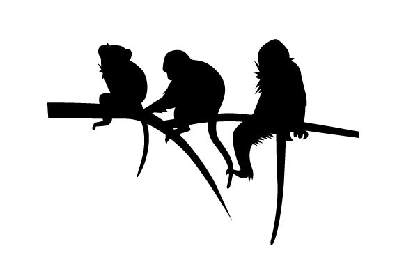 Download Free Silhouette Of Monkeys Svg Cut File By Creative Fabrica Crafts for Cricut Explore, Silhouette and other cutting machines.
