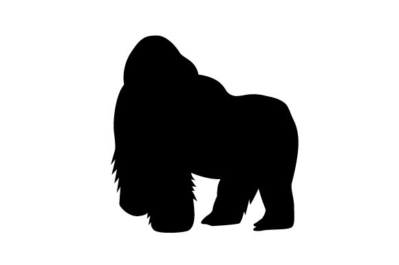Download Free Silhouette Of Silver Back Gorilla Svg Cut File By Creative for Cricut Explore, Silhouette and other cutting machines.