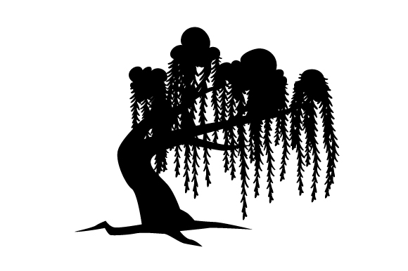 Silhouette Willow Tree Svg Cut File By Creative Fabrica