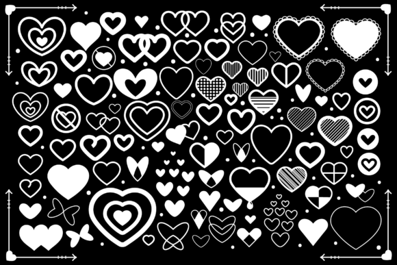Print on Demand: Simple Doodle Heart Icon Set Graphic Icons By Running With Foxes - Image 2
