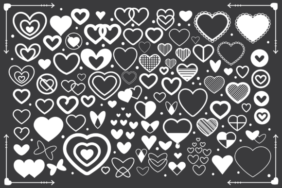 Print on Demand: Simple Doodle Heart Icon Set Graphic Icons By Running With Foxes - Image 3
