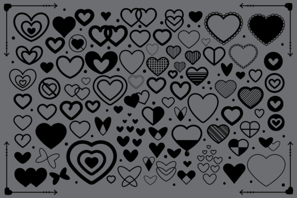 Print on Demand: Simple Doodle Heart Icon Set Graphic Icons By Running With Foxes - Image 4