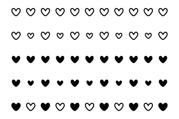 Print on Demand: Simple Doodle Heart Icon Set Graphic Icons By Running With Foxes - Image 5