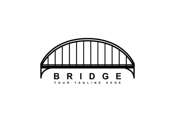 Download Free Simple Bridge Logo Design Graphic By Sabavector Creative Fabrica for Cricut Explore, Silhouette and other cutting machines.