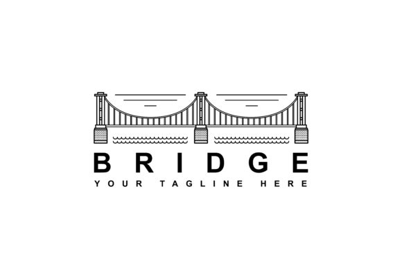 Download Free Simple Suspension Bridge Logo Design Graphic By Sabavector for Cricut Explore, Silhouette and other cutting machines.