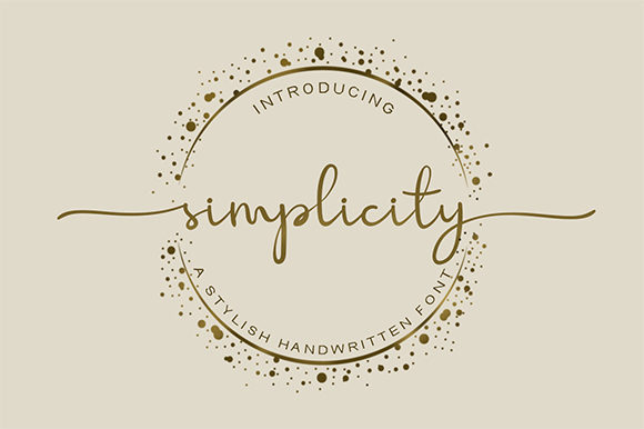 Print on Demand: Simplicity Script & Handwritten Font By Graphix Line Studio