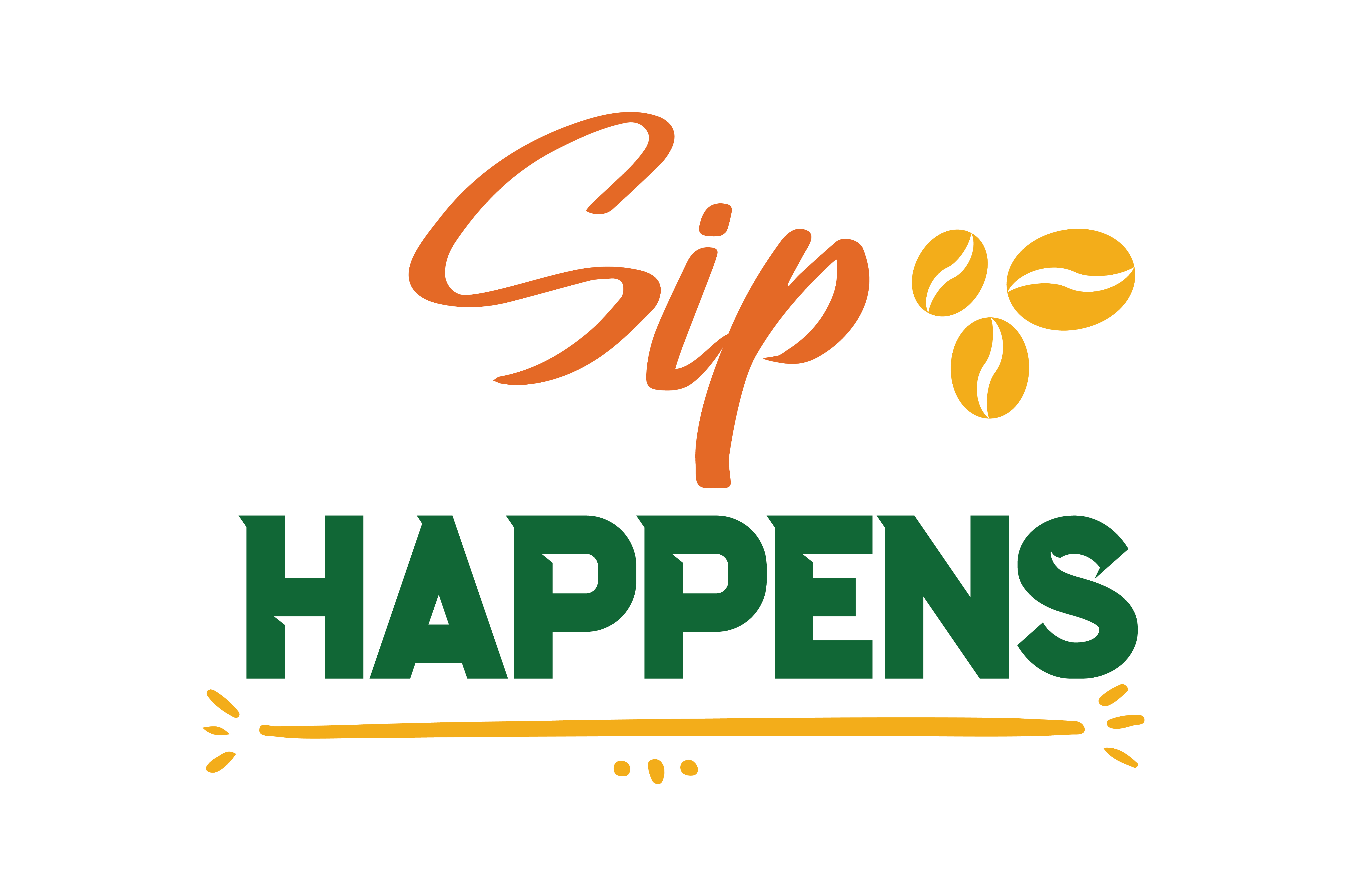 Download Free Sip Happens Quote Svg Cut Graphic By Thelucky Creative Fabrica for Cricut Explore, Silhouette and other cutting machines.