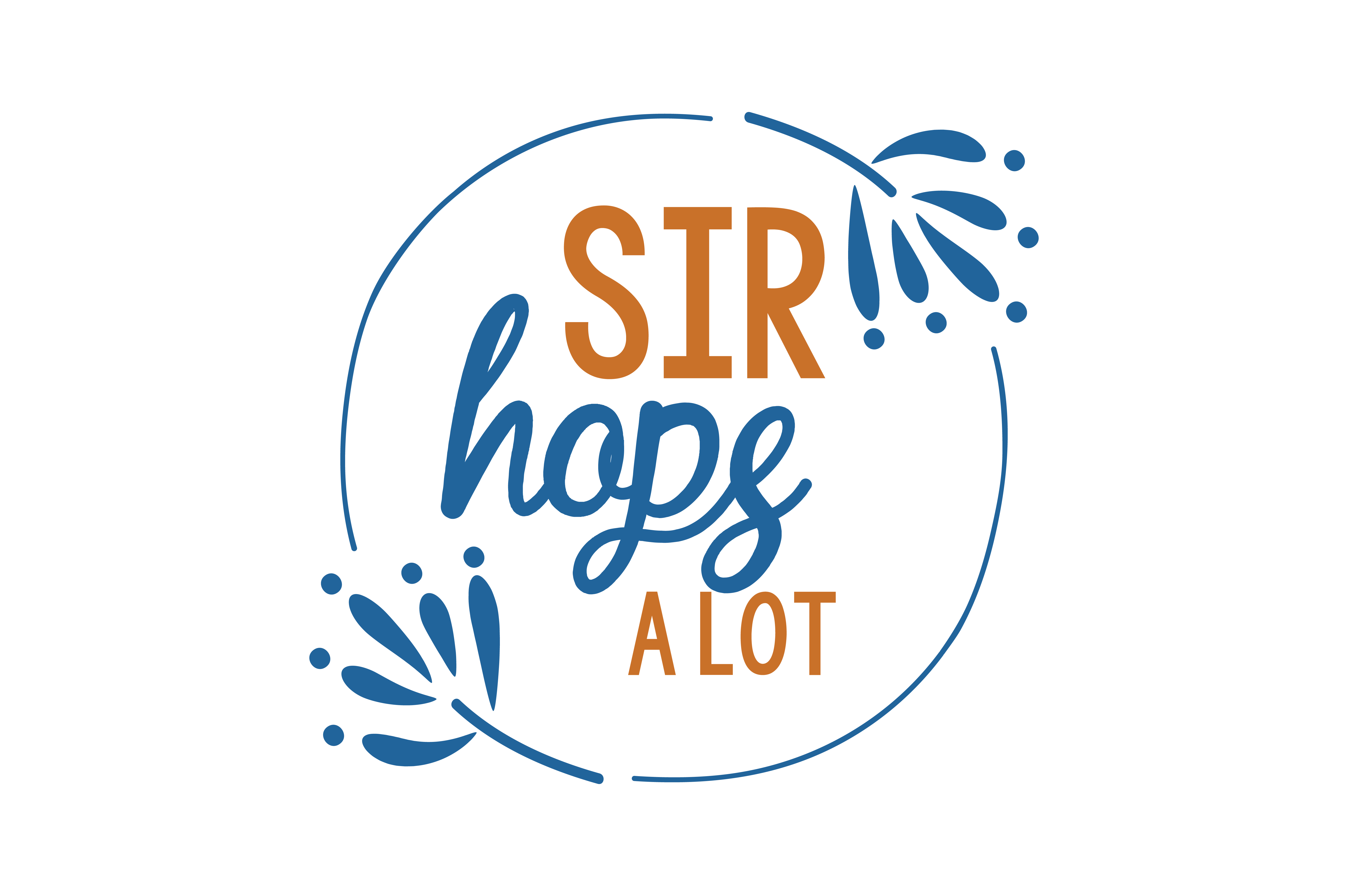 Download Free Sir Hops A Lot Quote Svg Cut Graphic By Thelucky Creative Fabrica for Cricut Explore, Silhouette and other cutting machines.