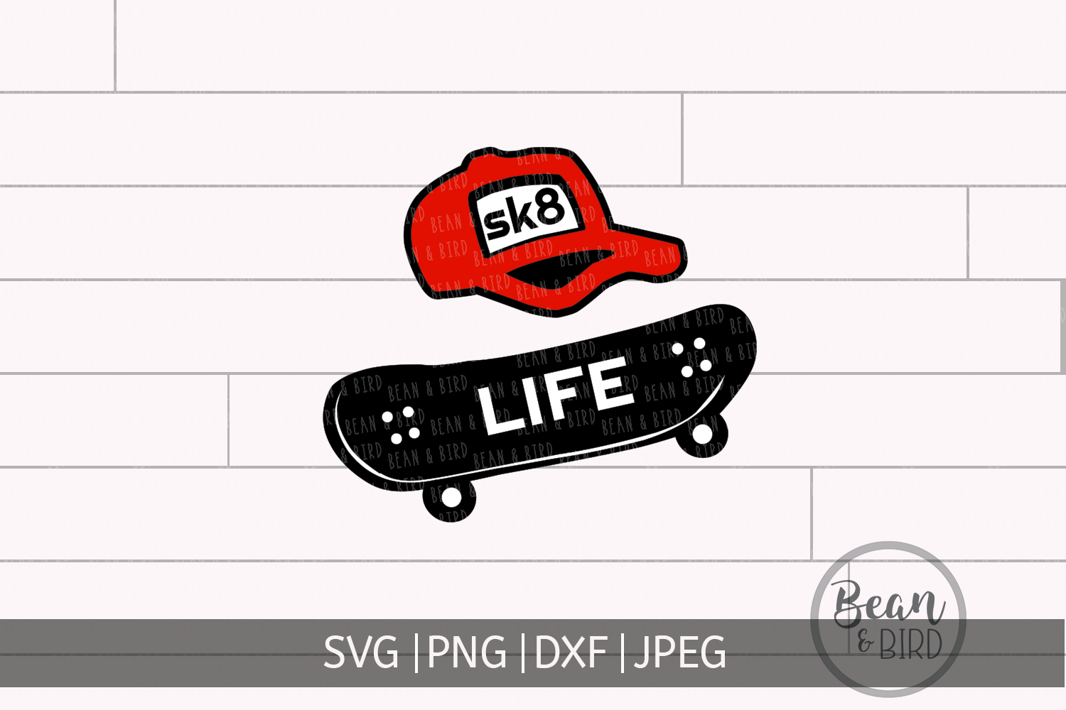 Download Free Skate Life Graphic By Jessica Maike Creative Fabrica for Cricut Explore, Silhouette and other cutting machines.
