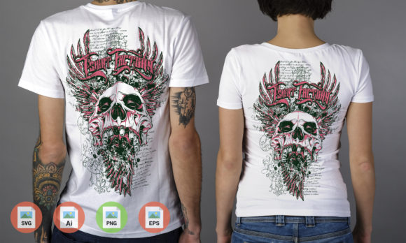 Skull Crazy Graphic Illustrations By Skull and Rose
