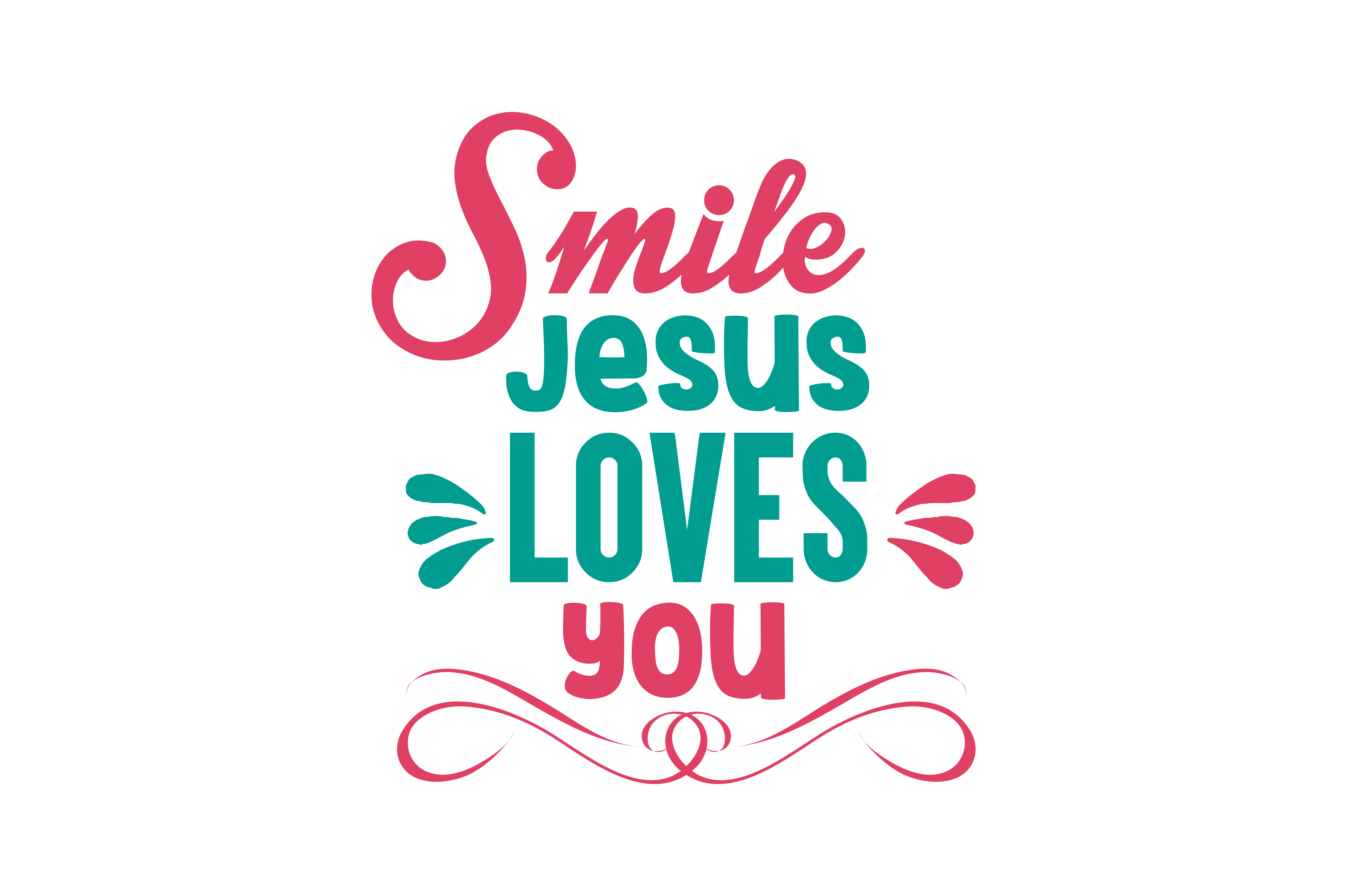 Download Free Smile Jesus Loves You Quote Svg Cut Graphic By Thelucky for Cricut Explore, Silhouette and other cutting machines.