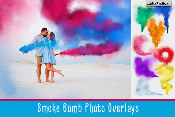 Print on Demand: Smoke Bomb Photo Overlays Graphic Layer Styles By MixPixBox