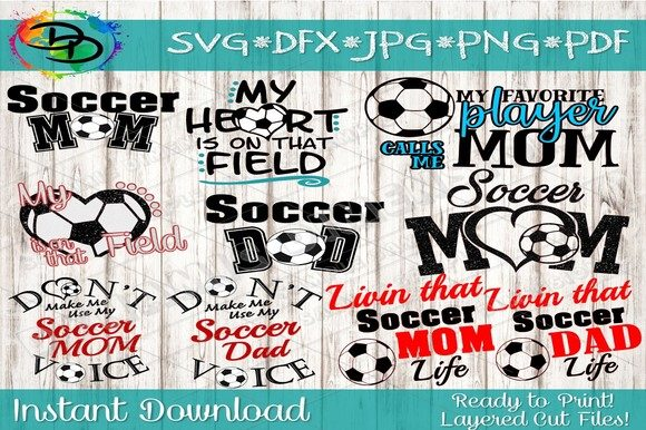 Download Free Soccer Bundle Graphic By Dynamicdimensions Creative Fabrica for Cricut Explore, Silhouette and other cutting machines.