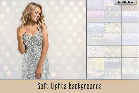 Print on Demand: Soft Lights Backgrounds Graphic Textures By MixPixBox